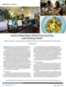 Gold Coast Magazine article about Lenore's catering and cooking school