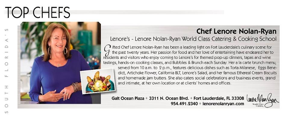 South Florida's Top Chef's profile for Lenore Nolan Ryan