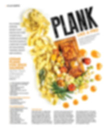 Photo of Lenore's plank salmon and recipe reprint from magazine
