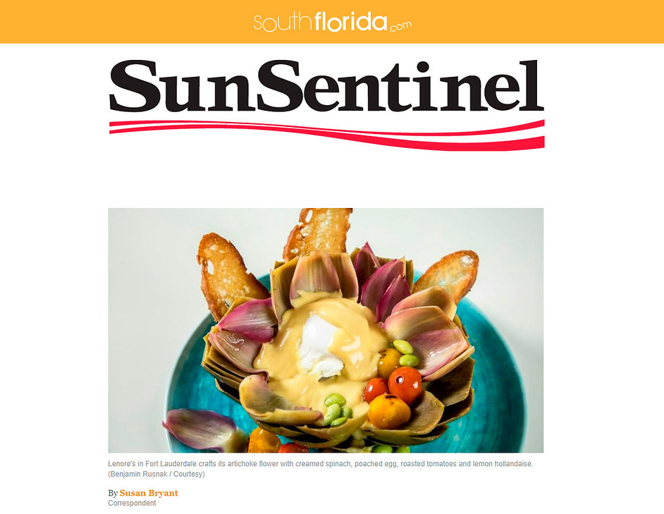 Sun-Sentinel article about Lenore's famous Sunday brunch