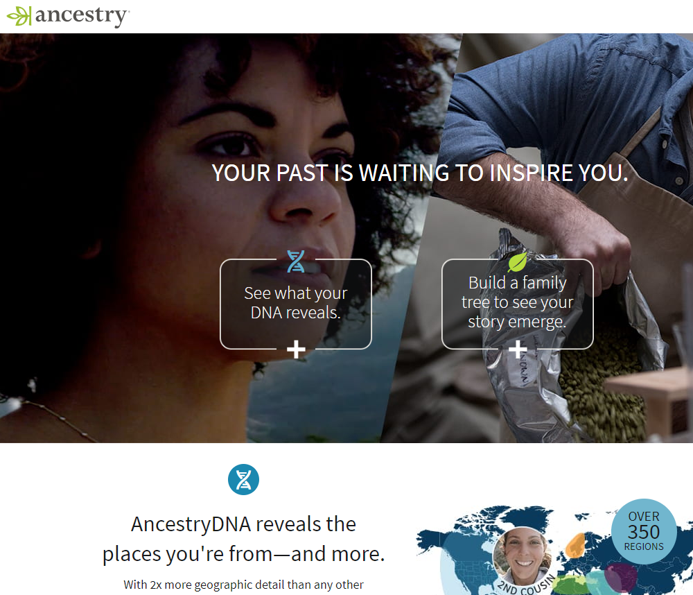 Image of Ancestry.com website