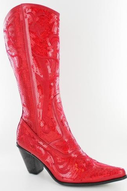 Bling Cowboy Boots Red