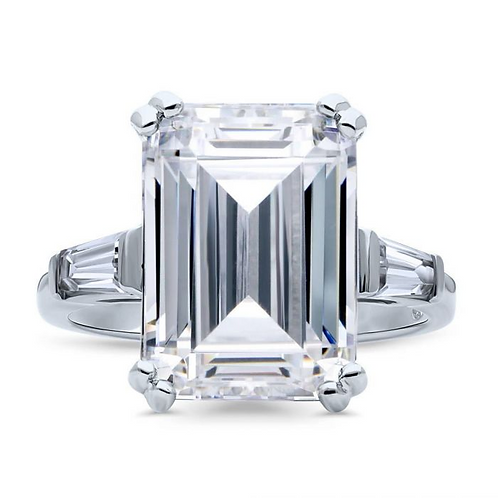 Emerald Cut with Baguettes Travel Ring