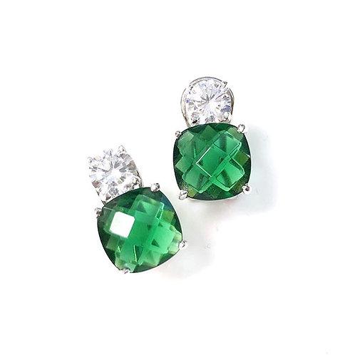Emerald CZ Double Stud