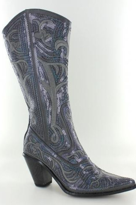 Bling Cowboy Boots Grey