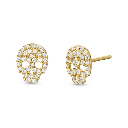 Pavé Skull Earrings