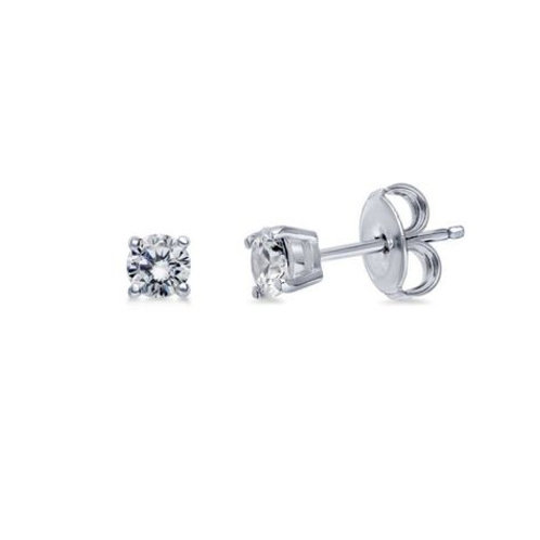 1ct Sterling Silver Studs