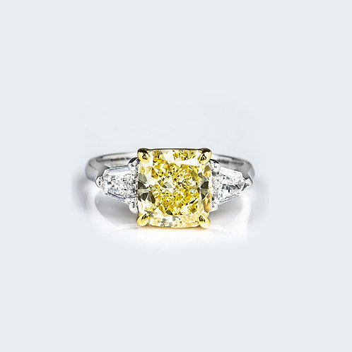 10mm Cushion Cut CZ Ring