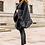 Thumbnail: Black Faux Fur Trimmed Wrap