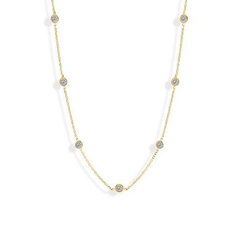 Zircon by the Yard 10 Station Necklace
