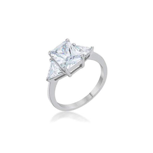 CZ 3 ct Sterling Silver Ring