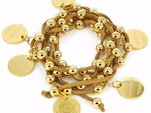 Karma Necklace Tan/Gold