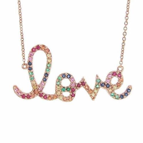 Rainbow Love Necklace
