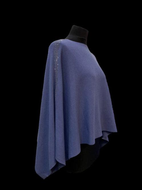 Bling Poncho-Blue