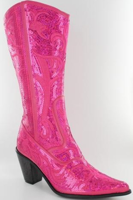 Bling Cowboy Boots  Fushia