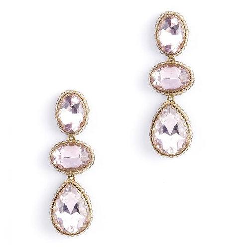 Pink Crystal Earring