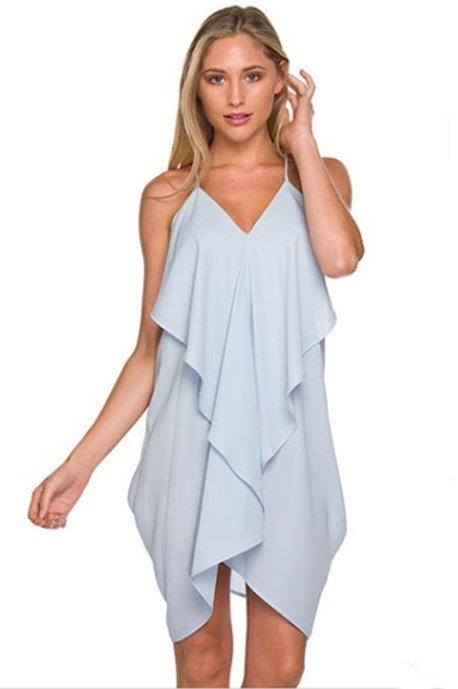 Scarf Dress in Light Blue