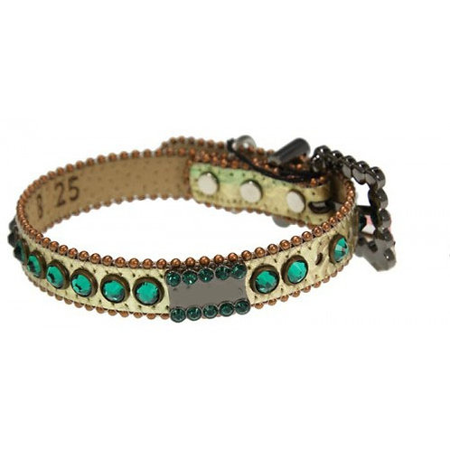 Turquoise & Cream Dog Collar