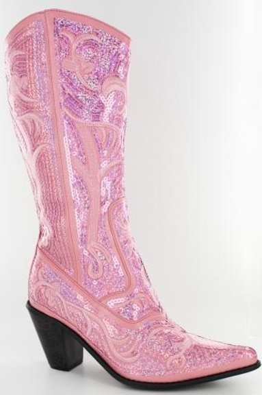 Bling Cowboy Boots Pink