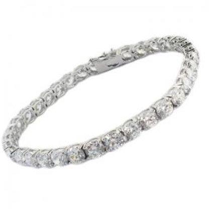 Silver Pronged Tennis Bracelet 3mm