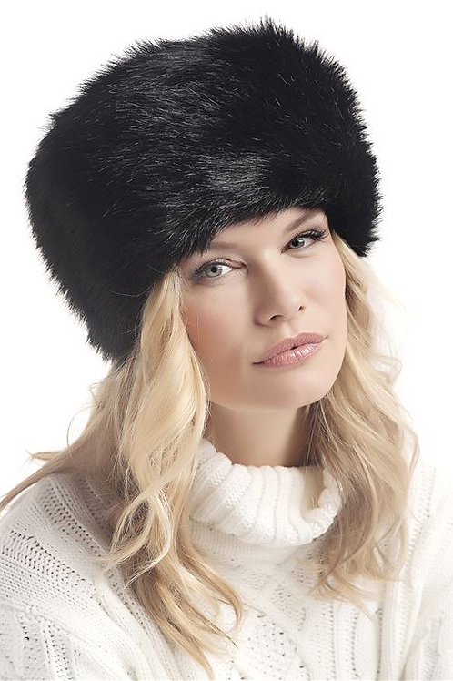 Faux Fur Black Russian Hat