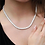 Thumbnail: 4mm Sterling Silver Tennis Necklace