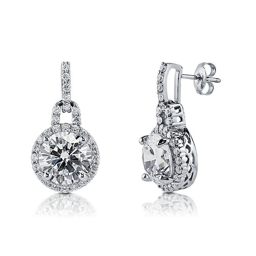 Brilliant cut CZ Drop Earring