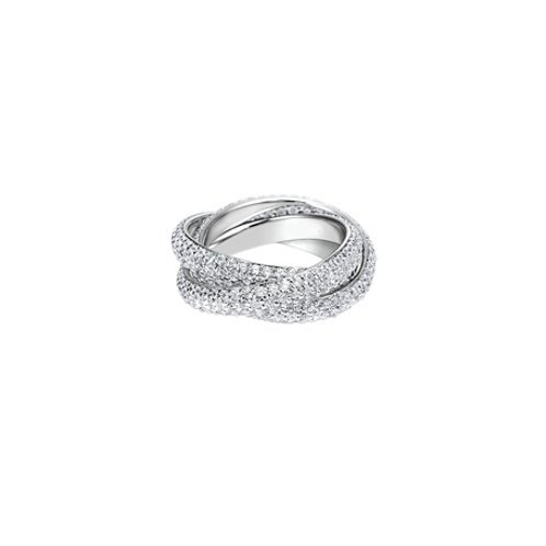 Channel Triple Pave Rolling Rings