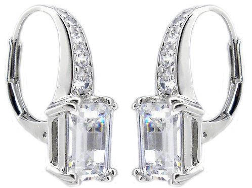 Emerald Lever Back Earring