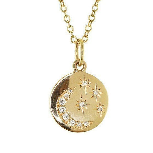 Star and Moon Mini Disc Necklace