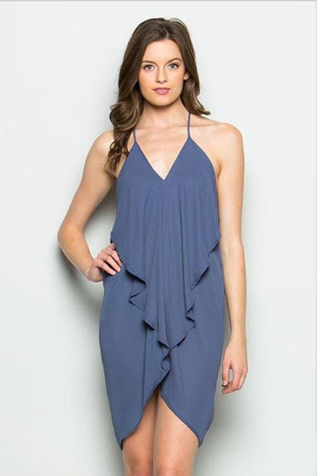 Scarf Dress in Slate