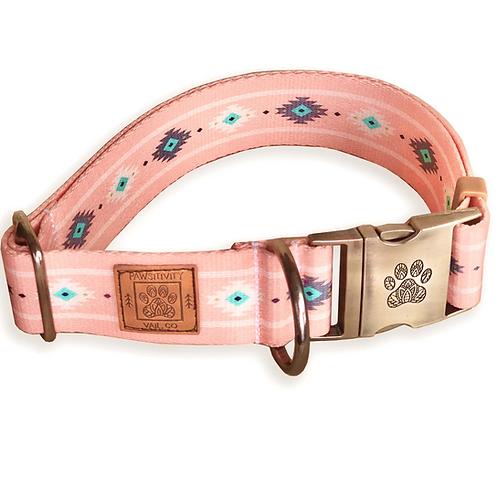 Peach Ikat Dog Collar