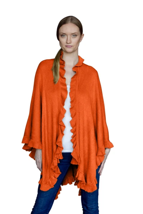 Ruffle Shawl Orange