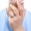 Thumbnail: Cushion Cut CZ HaloTravel Ring