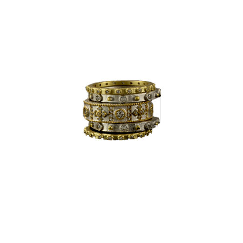 Gold and Silver Stacked Ring