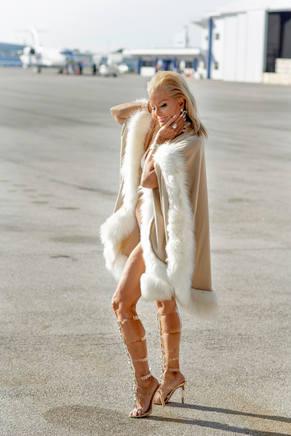 Joy In Faux Fur Wrap
