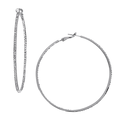 Large Infinity Hoop Earring