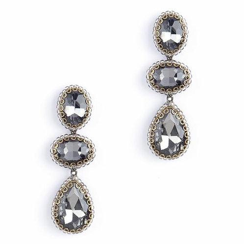Charcoal Crystal Earrings