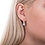 Thumbnail: CZ Round Leverback Earring