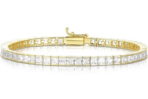 Channel Set CZ Tennis Bracelet