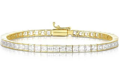 Channel Set Tennis Bracelet