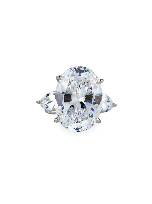 Oval Cut CZ Ring