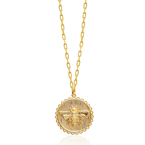 Bee Medallion Necklace