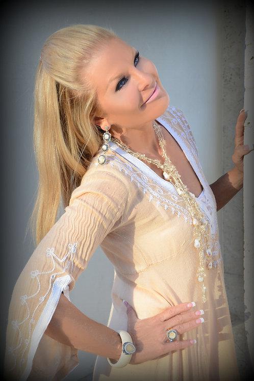 Crystal Pearl Lariat