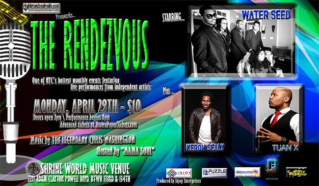 The Rendezvous event flyer, April 29