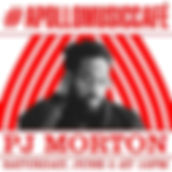 Event flyer for PJ Morton apperance at Apollo Music Cafe