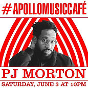 Event flyer for PJ Morton apperance at Apollo Music Cafe