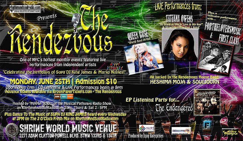 The Rendezvous event flyer, Jun. 25