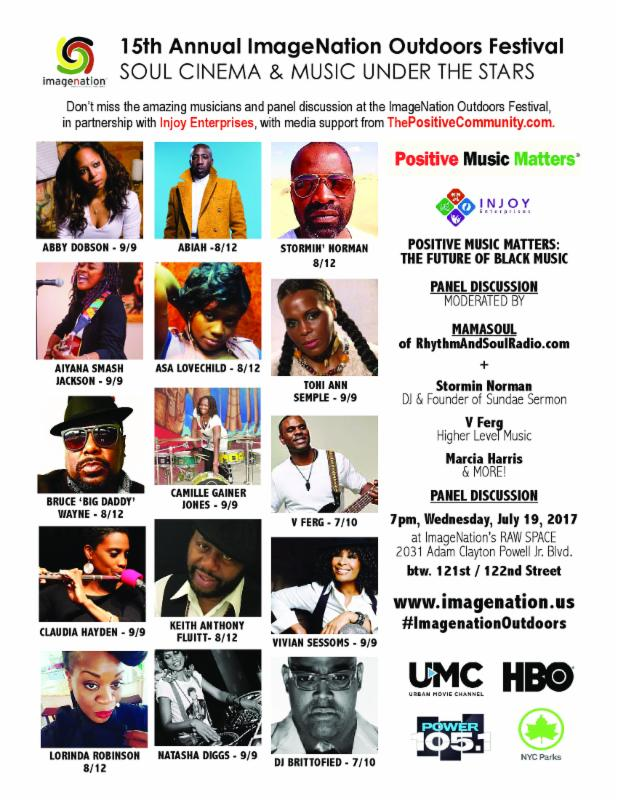 Positive Music Matters event flyer