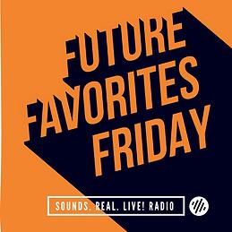 Future Favorite show logo orange text with black shadow